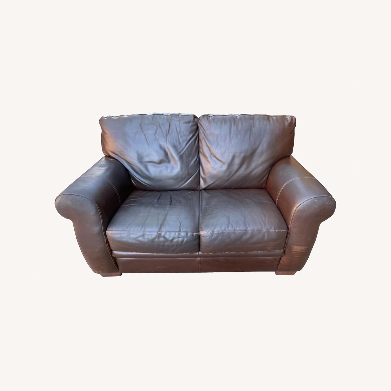 Italiana Divani Chateau Dax Leather Loveseat - image-0