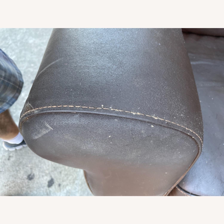 Italiana Divani Chateau Dax Leather Loveseat - image-12