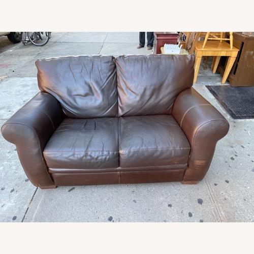 Used Italiana Divani Chateau Dax Leather Loveseat for sale on AptDeco