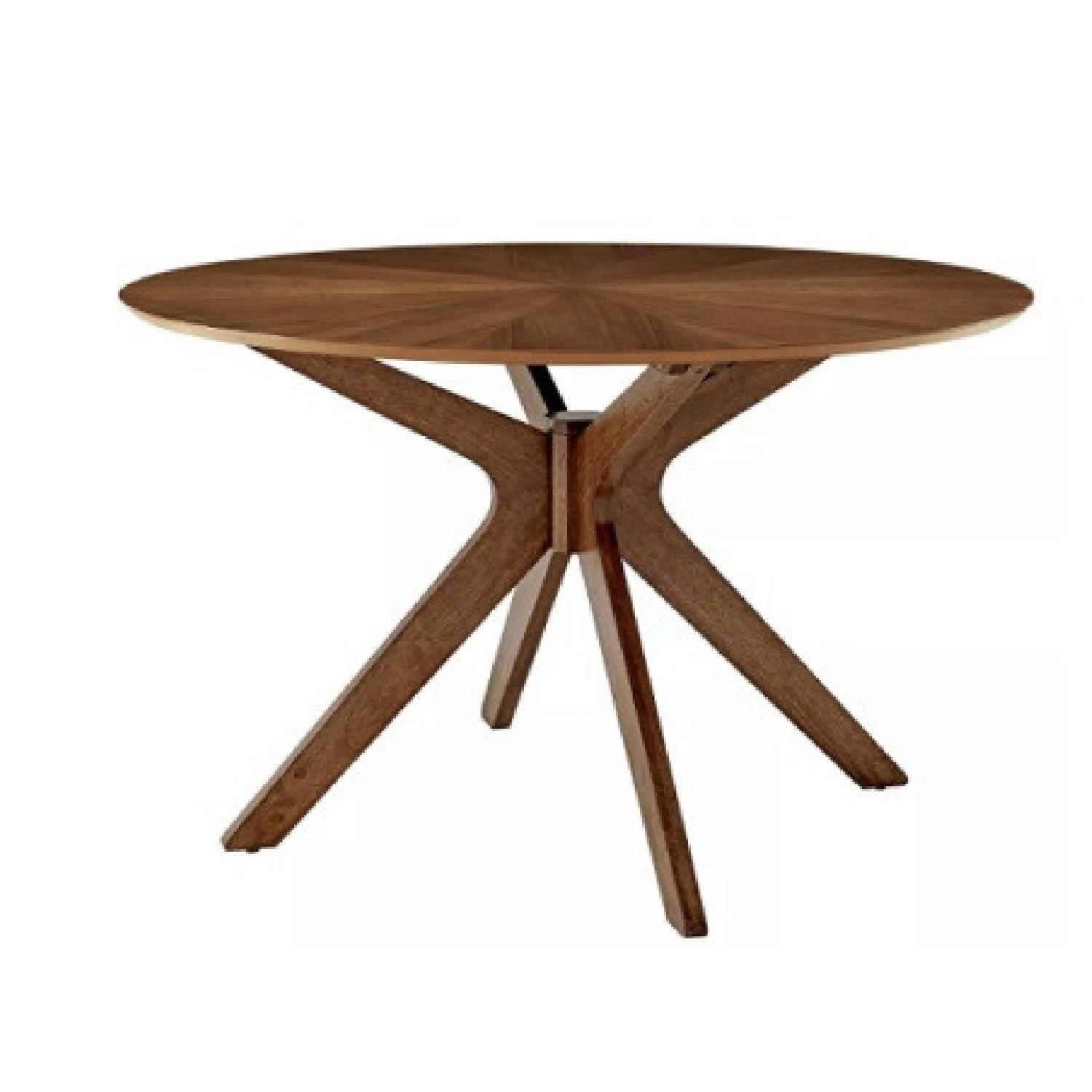 Modway Pedestal 47 Dining Table in Walnut - image-4