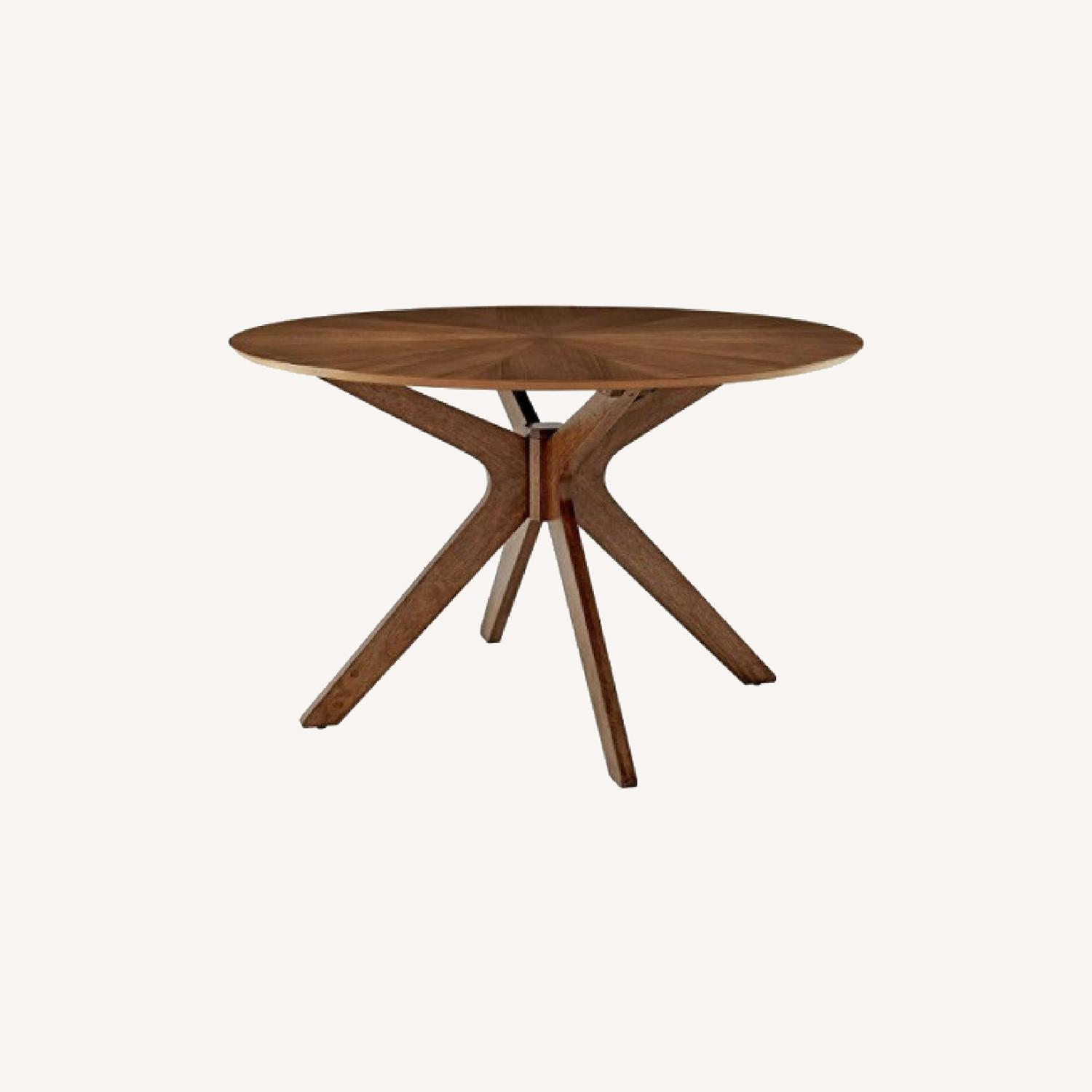 Modway Pedestal 47 Dining Table in Walnut - image-0