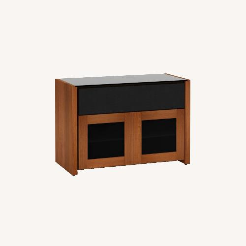 Used Salamander Designs Corsica Solid Cherry Wood Media Cabinet for sale on AptDeco