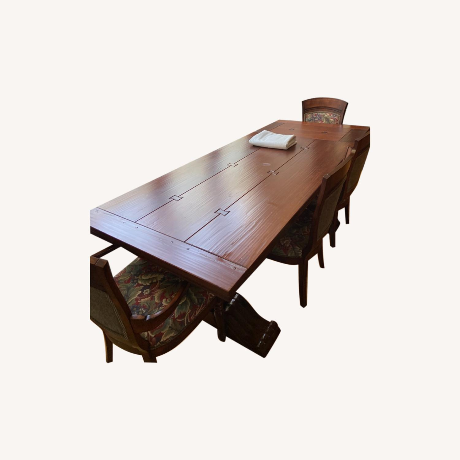 Ethan Allen Dining Table and Chairs - image-0
