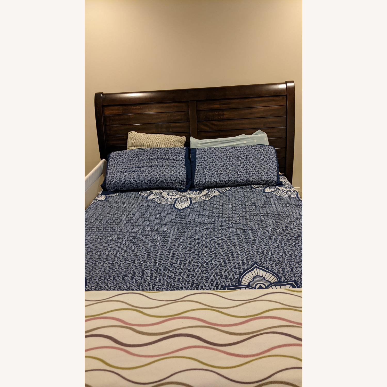Bob's Discount Furniture Hudson Queen Pecan Storage Bed - image-1