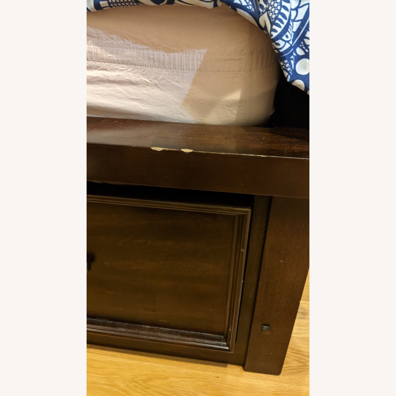 Bob's Discount Furniture Hudson Queen Pecan Storage Bed - image-4