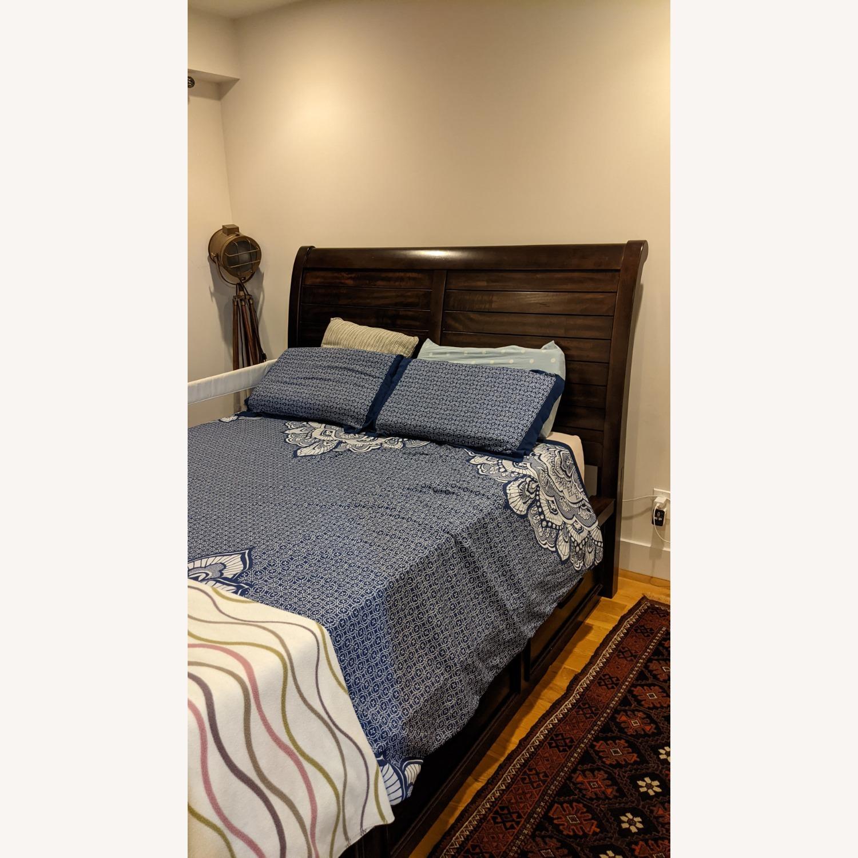 Bob's Discount Furniture Hudson Queen Pecan Storage Bed - image-2