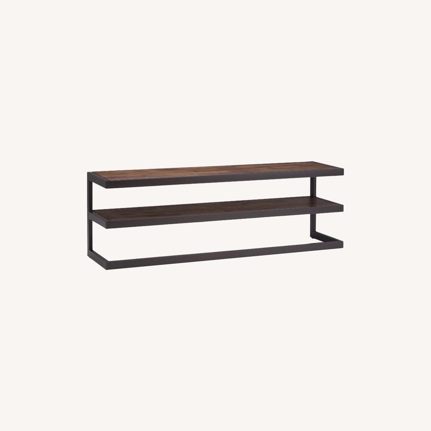 Target WyndenHall Acacia Wood Low TV Stand - image-0