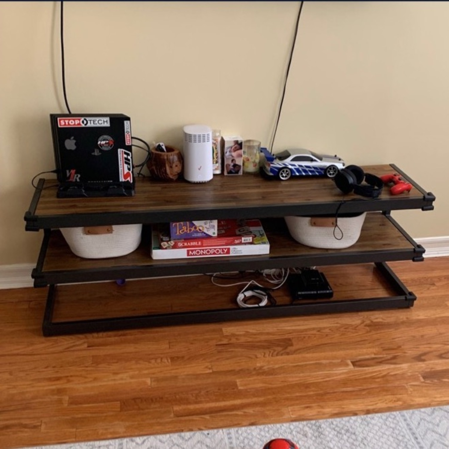Target WyndenHall Acacia Wood Low TV Stand - image-1