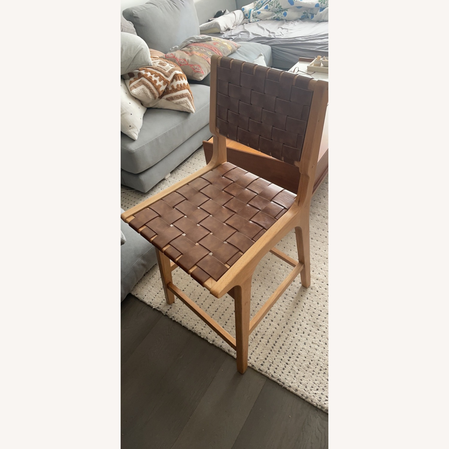 Target Woven Leather Counter Stool - image-1