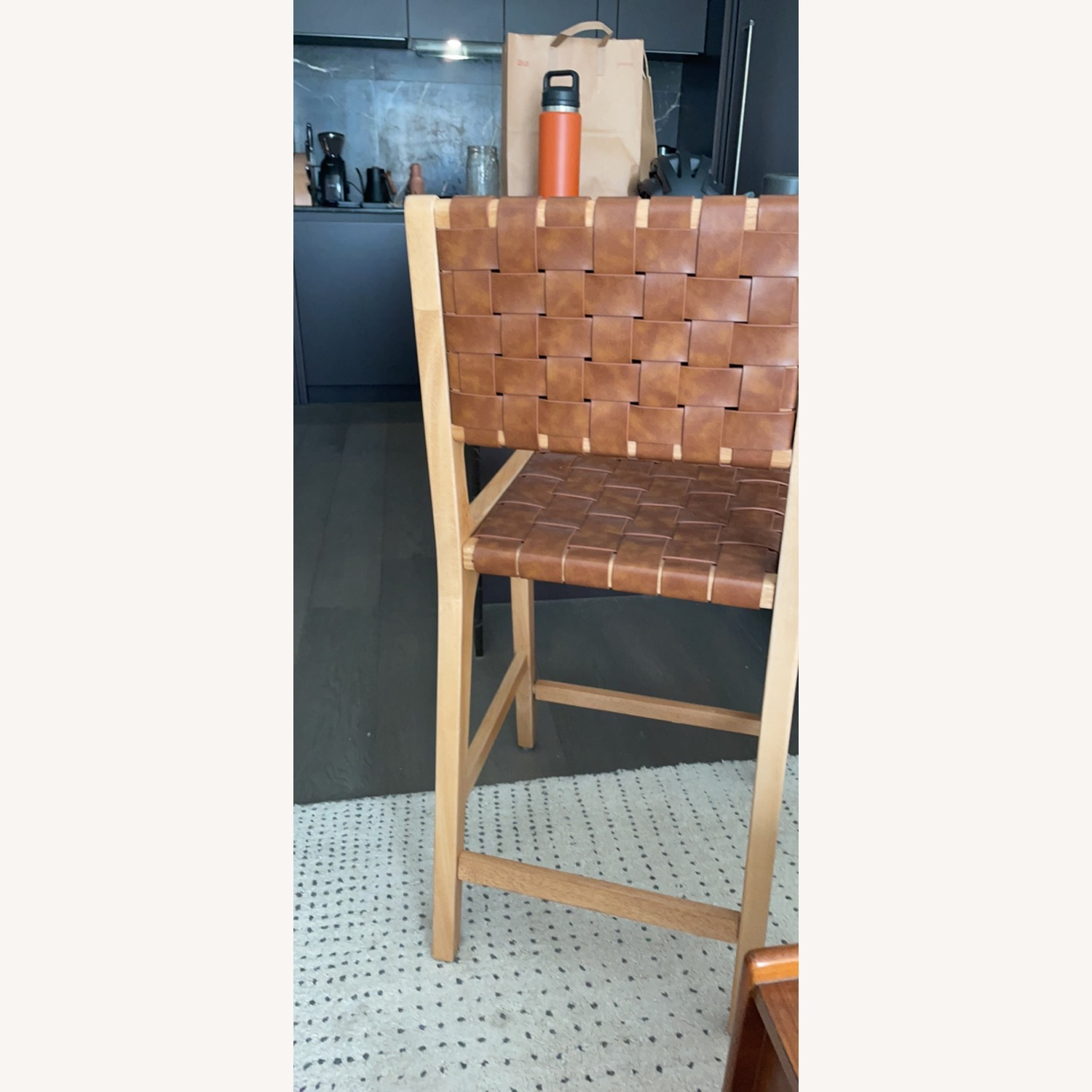 Target Woven Leather Counter Stool - image-2