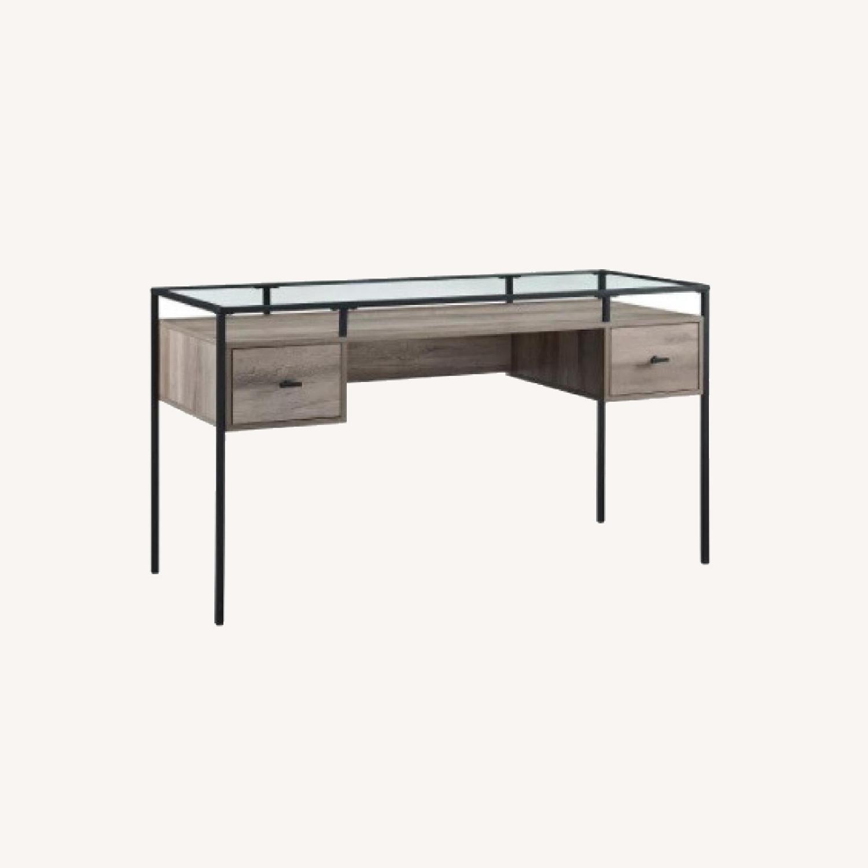 Target Glass Desk - image-0