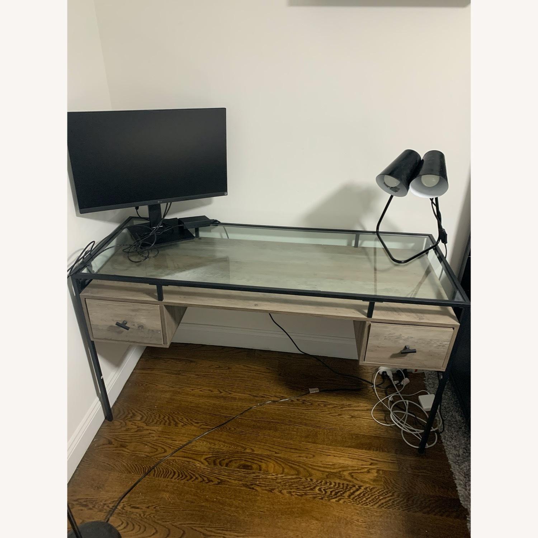 Target Glass Desk - image-1
