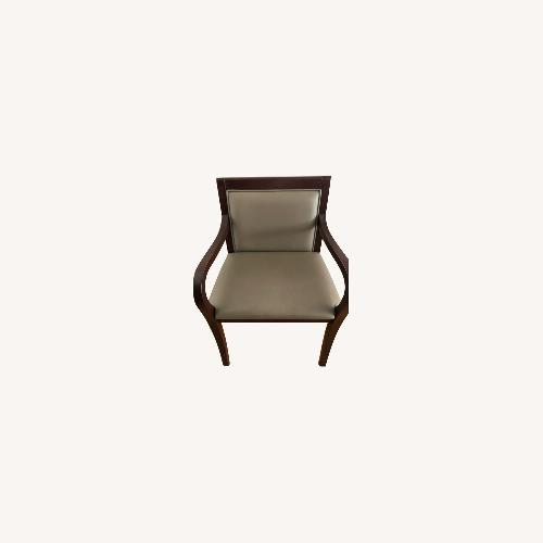 Used Steelcase Solid Cherrywood Wide Armchairs for sale on AptDeco