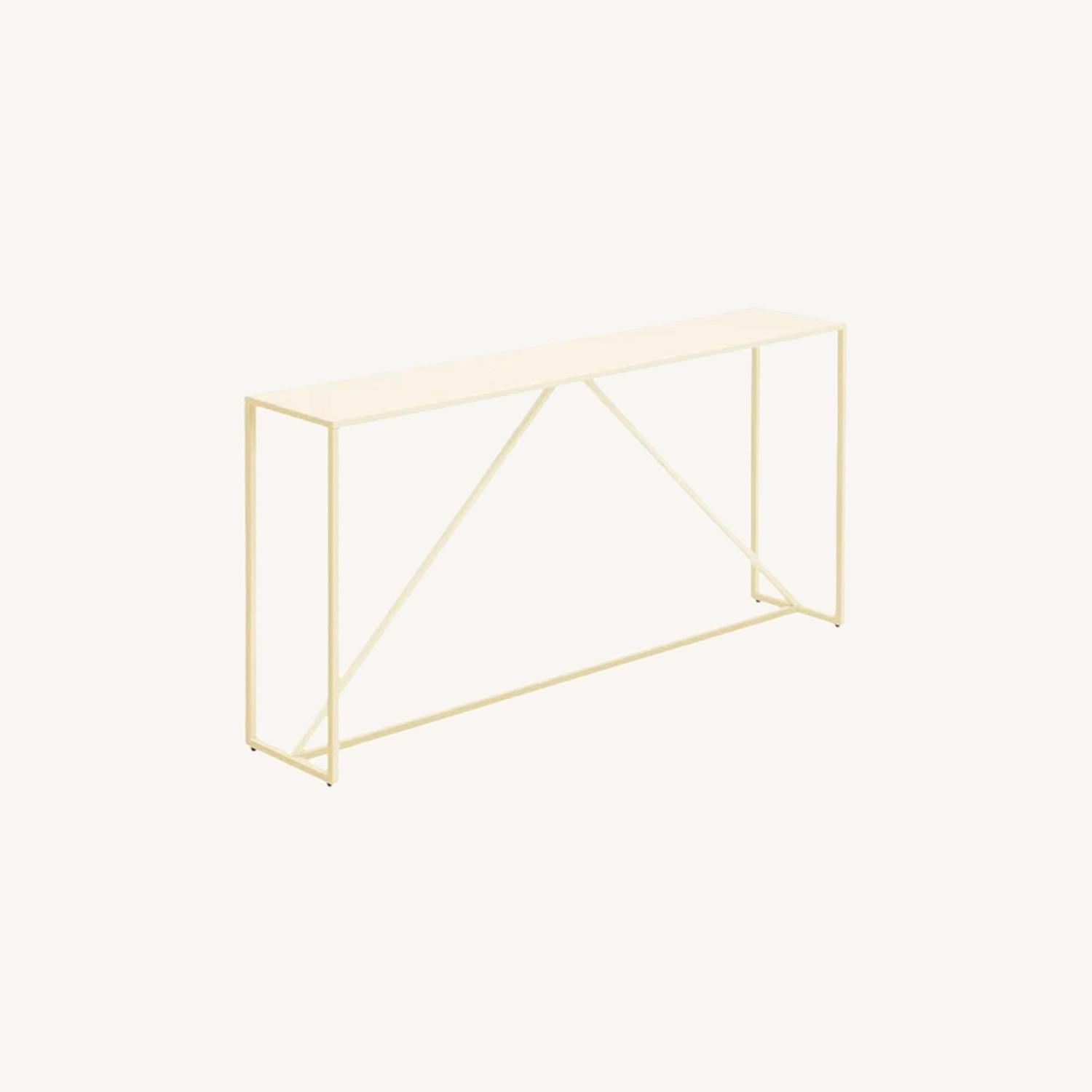 Blu Dot Strut Console Table in Ivory - image-0