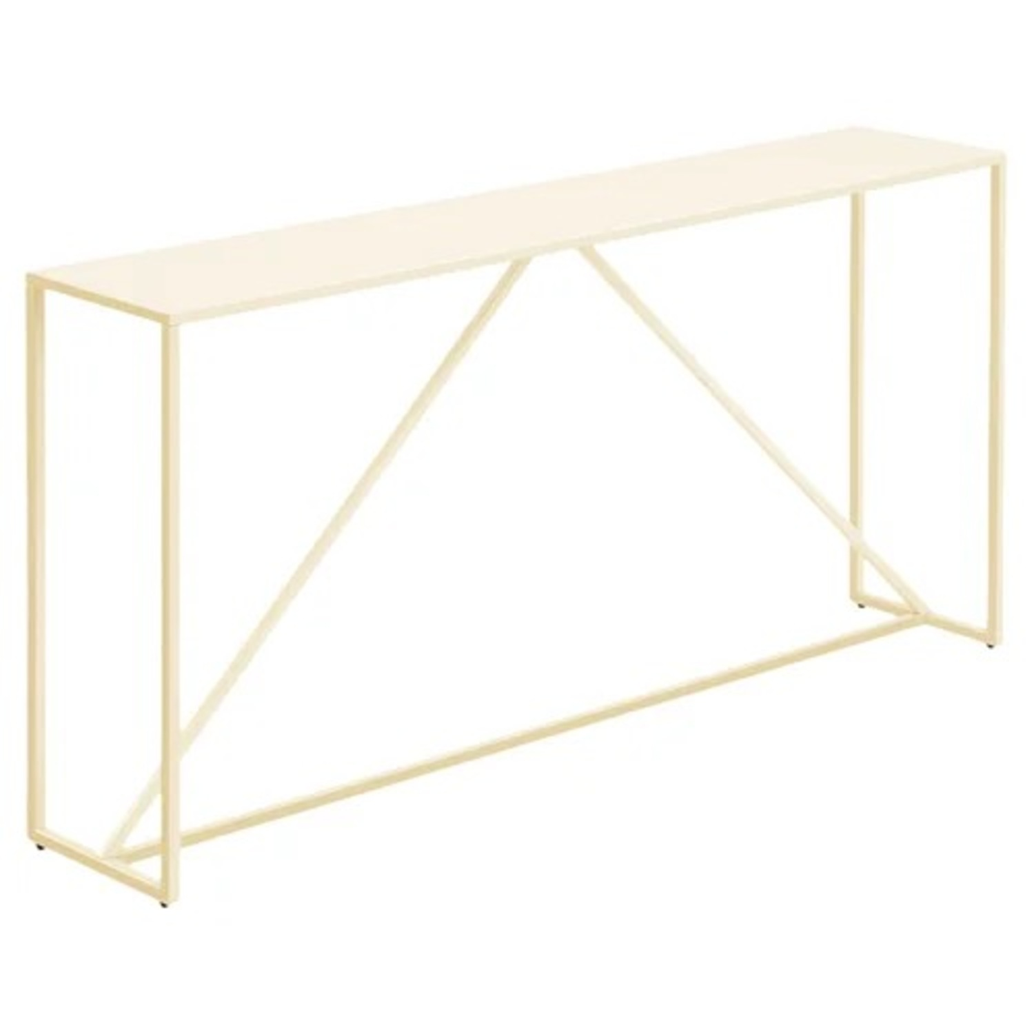 Blu Dot Strut Console Table in Ivory - image-4