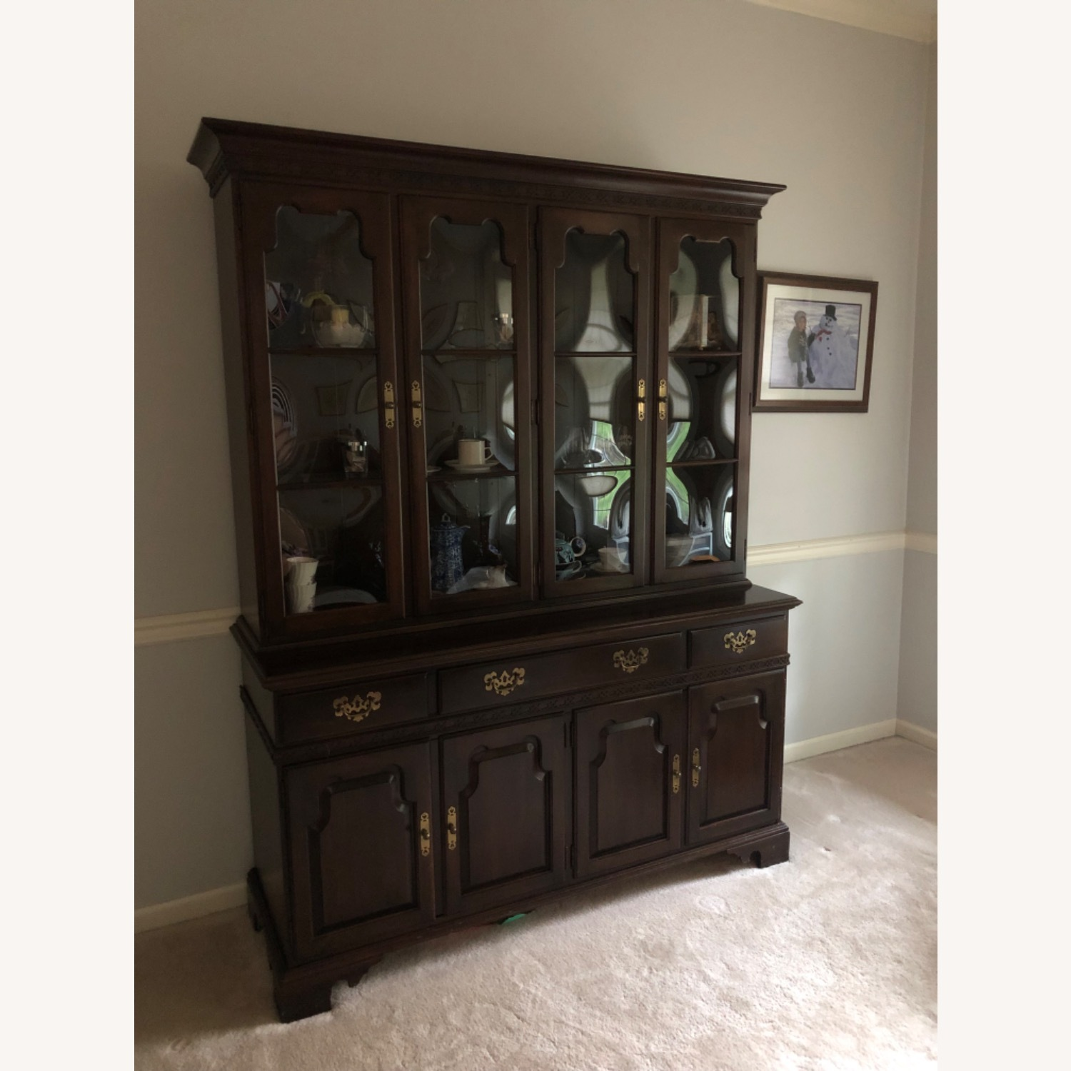 Ethan Allen China Cabinet - image-1