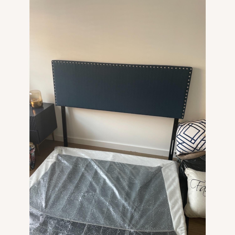 Wayfair Blue Headboard Queen Bed - image-1
