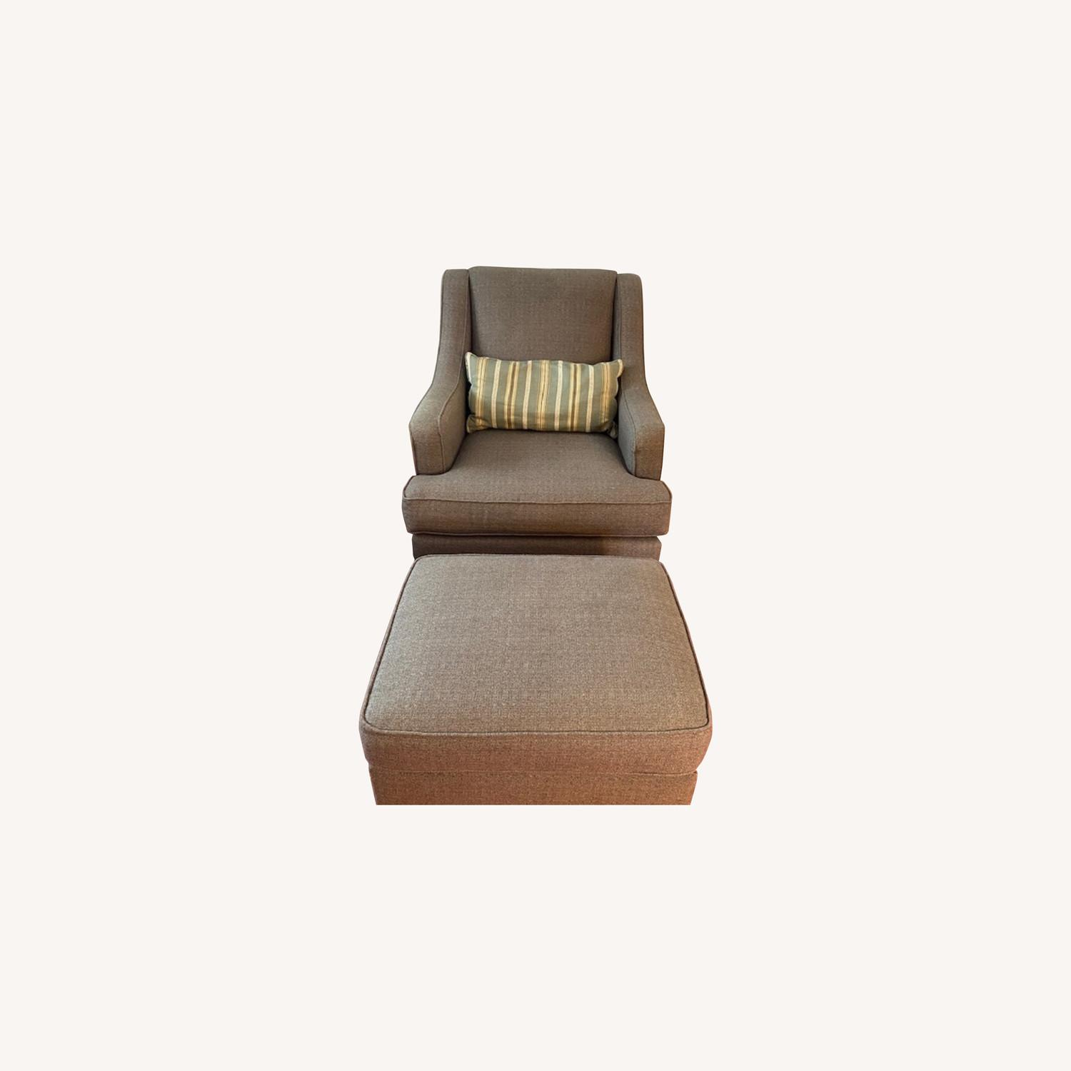 Basset Gibson Chair with Matching Ottoman - image-0