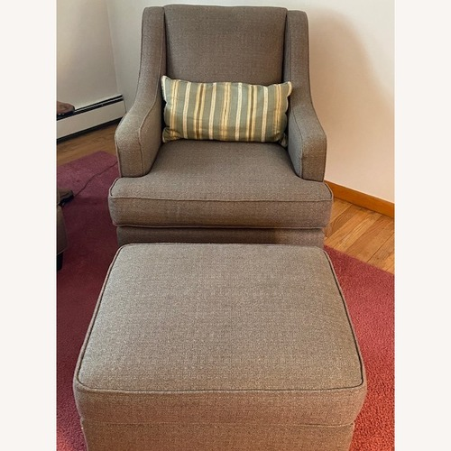 Used Basset Gibson Chair with Matching Ottoman for sale on AptDeco