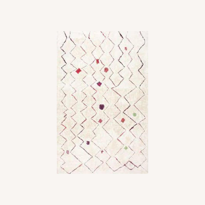 Wayfair Aldham Hand-Tufted Shag Light Beige Area Rug - image-0