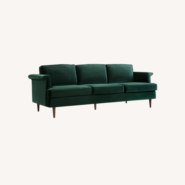 Wayfair Forest Green Velvet Sofa - image-0