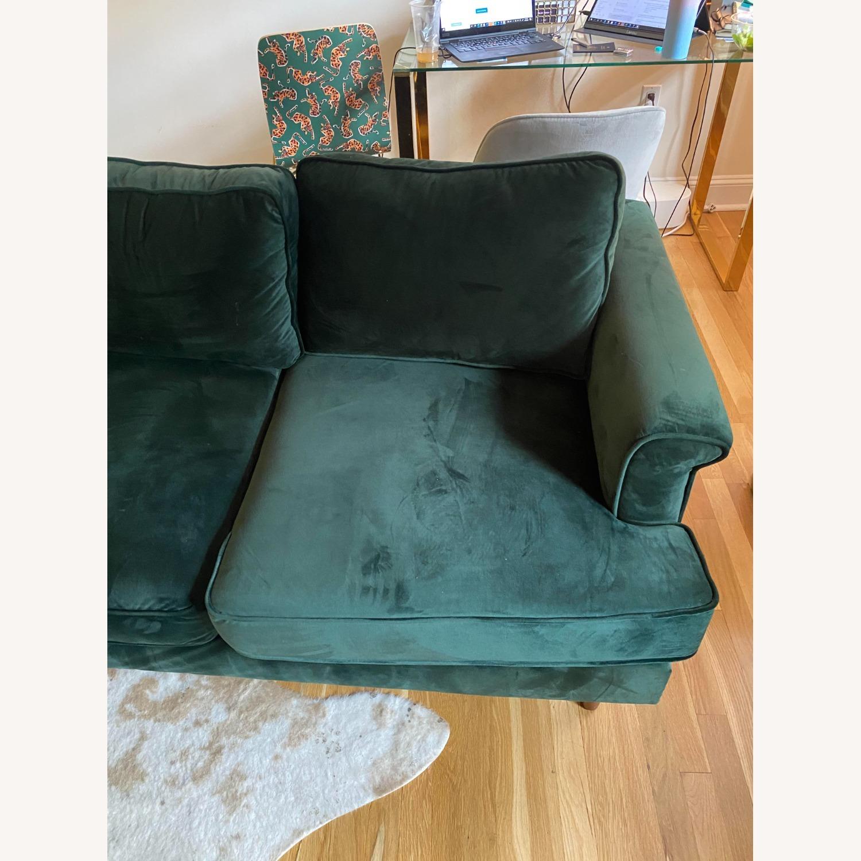 Wayfair Forest Green Velvet Sofa - image-2
