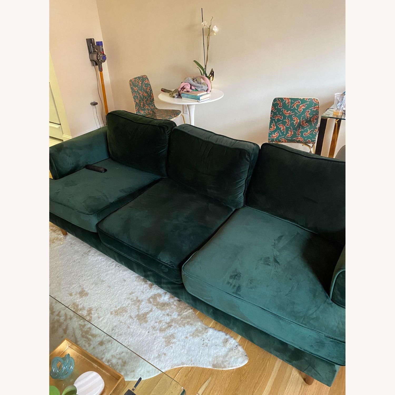 Wayfair Forest Green Velvet Sofa - image-1