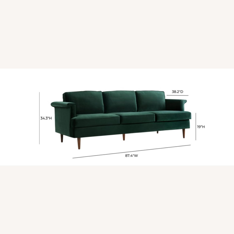 Wayfair Forest Green Velvet Sofa - image-4