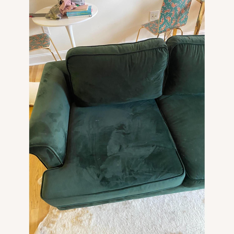 Wayfair Forest Green Velvet Sofa - image-3