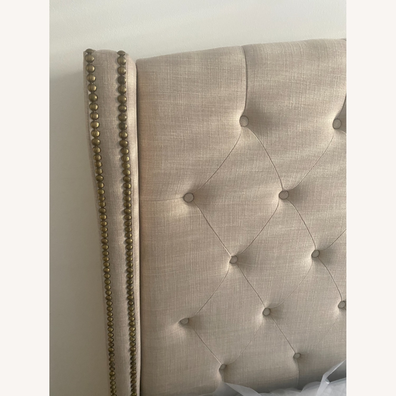 Wayfair Full Cream Upholstered Headboard and Bed - image-2