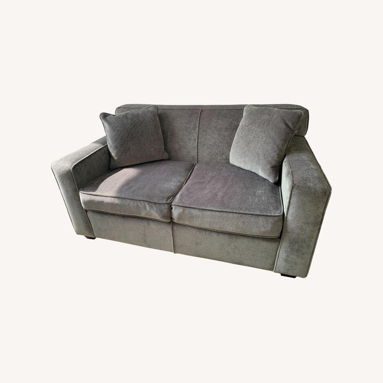 Chenille Sofa in classic Jean Michel Frank style - image-0