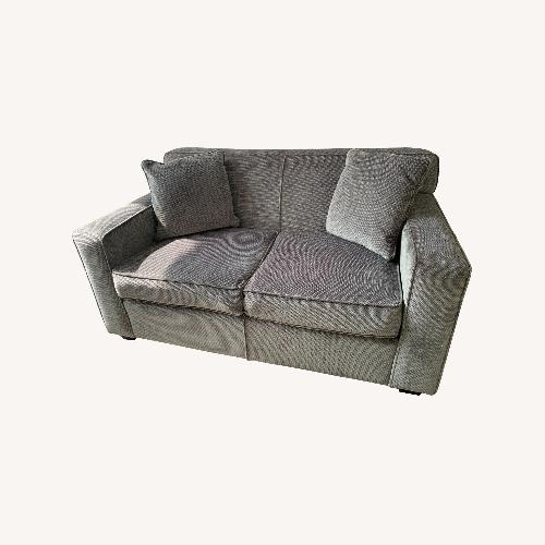 Used Chenille Sofa in classic Jean Michel Frank style for sale on AptDeco