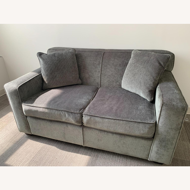 Chenille Sofa in classic Jean Michel Frank style - image-1