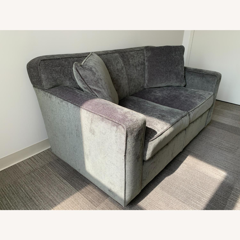 Chenille Sofa in classic Jean Michel Frank style - image-2