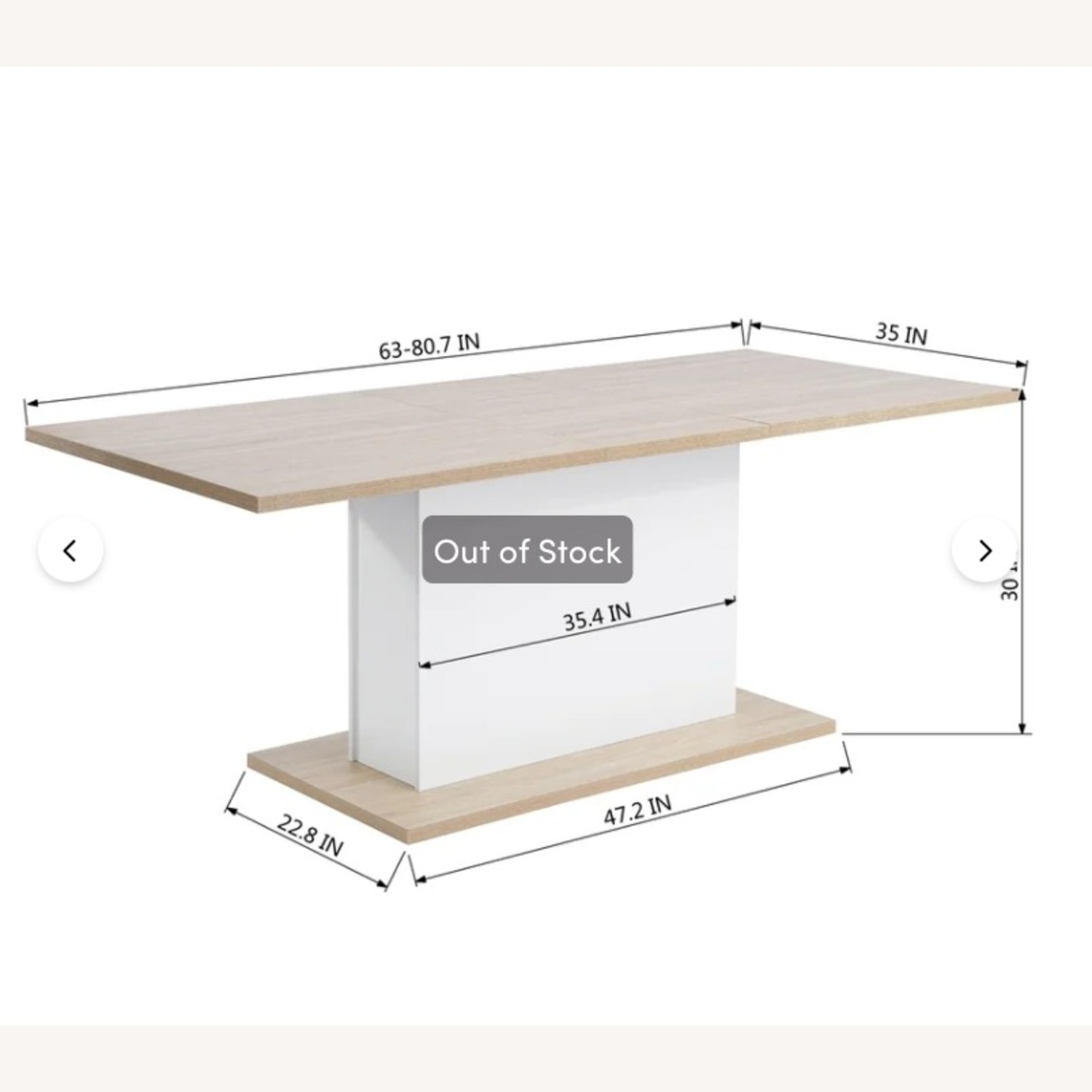 Wayfair Extendable Dining Table (seats up to 8) - image-2