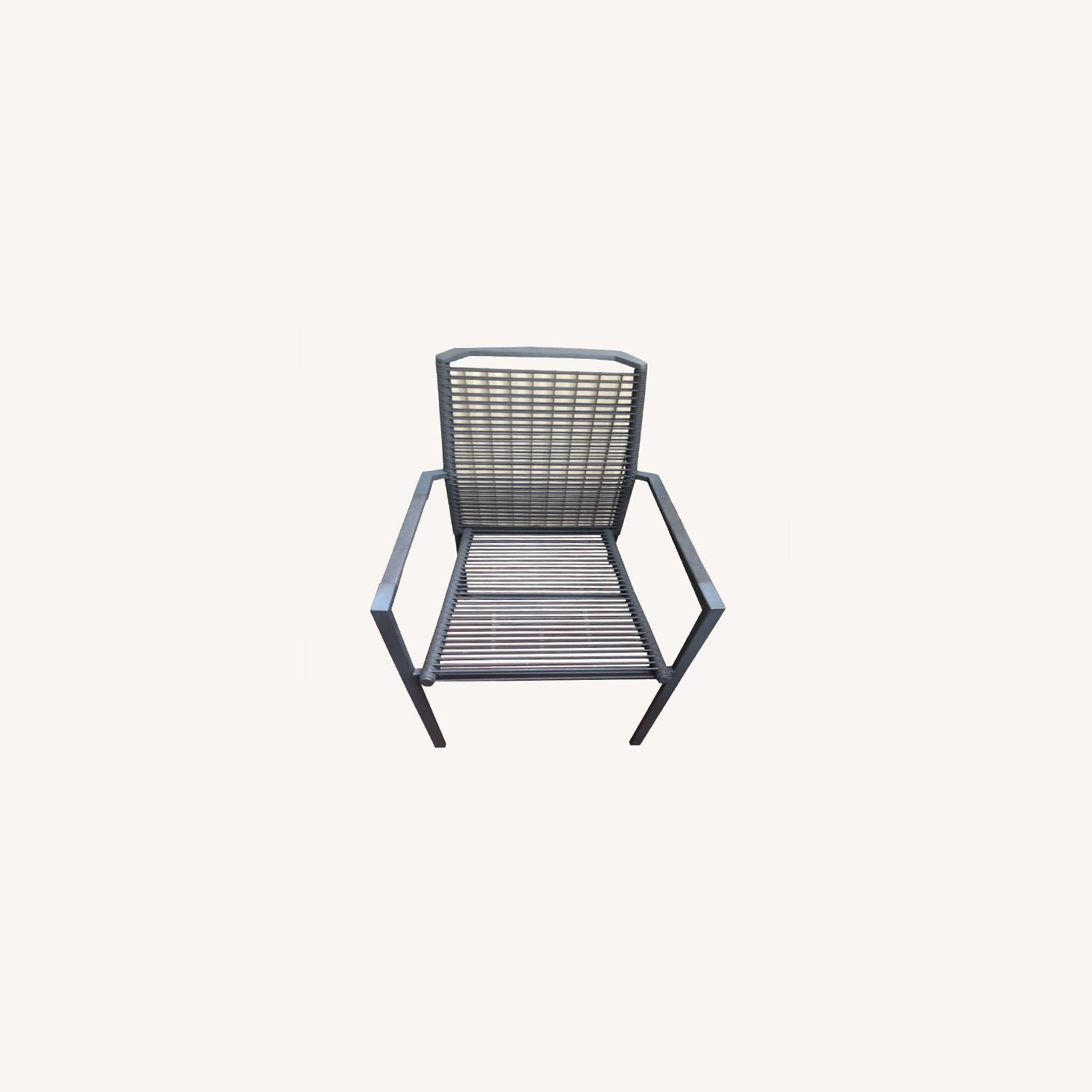 Set of 2 Cane-line Edge Outdoor Armchairs - image-0