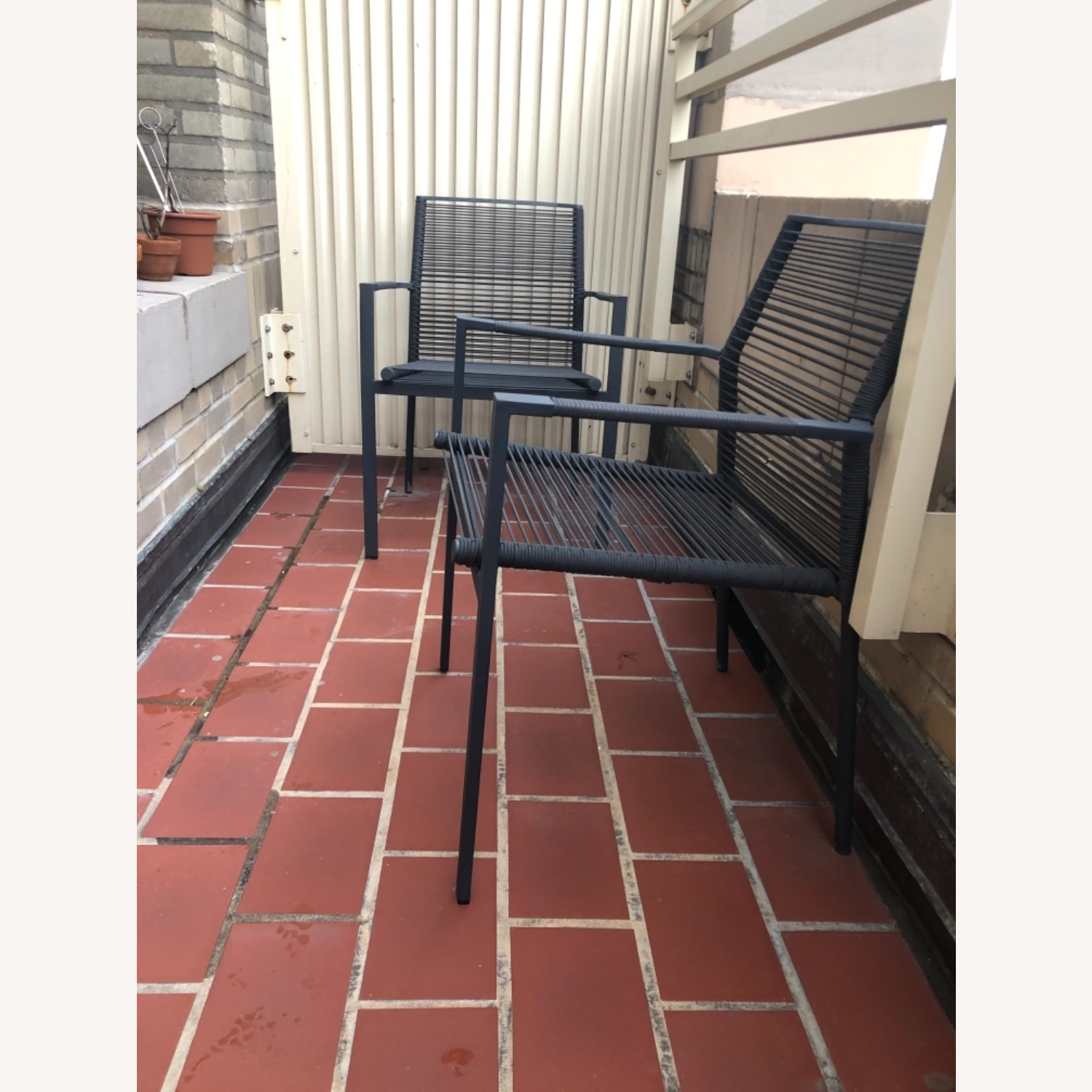 Set of 2 Cane-line Edge Outdoor Armchairs - image-1