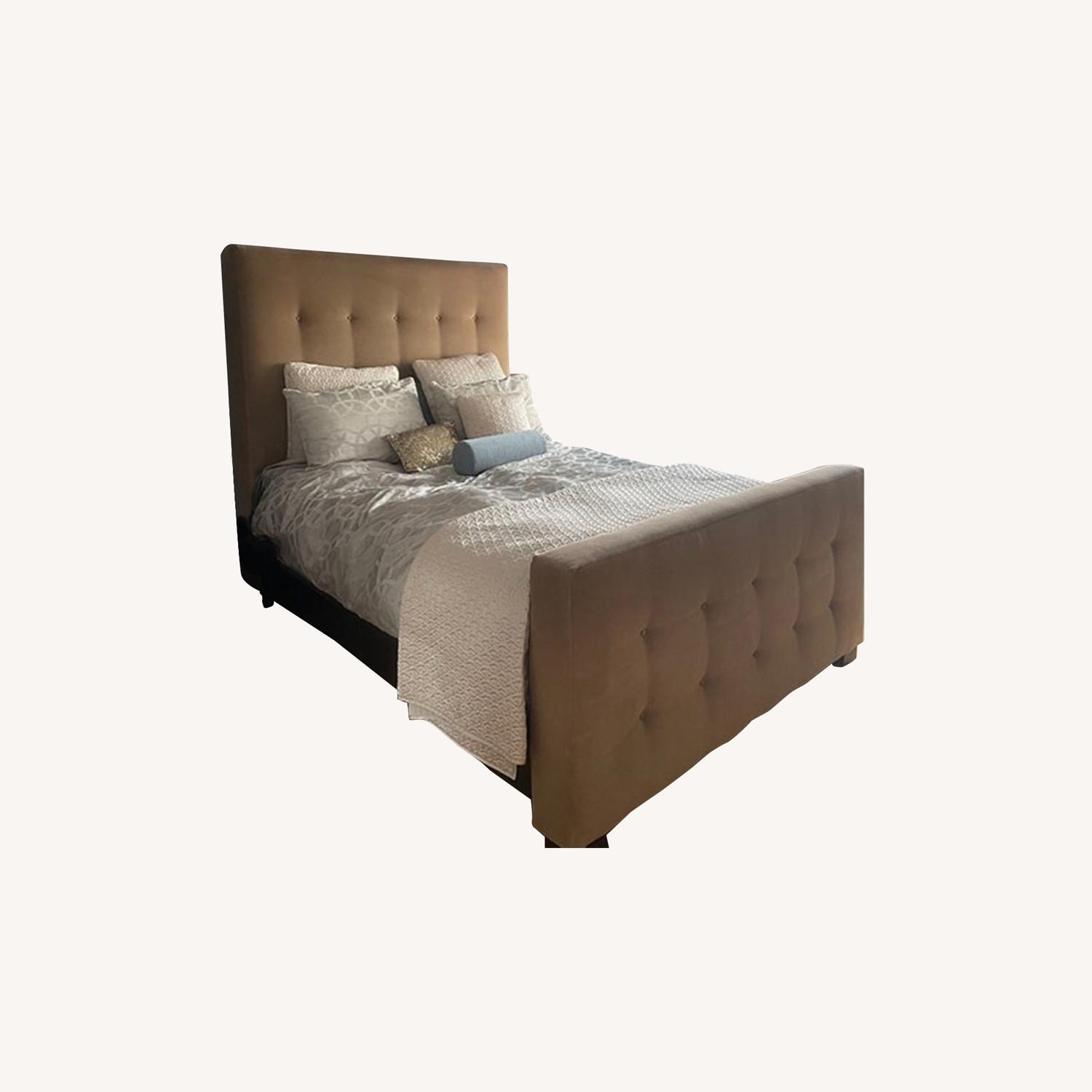 Mitchell Gold + Bob Williams Tufted Velvet Queen Bed - image-0