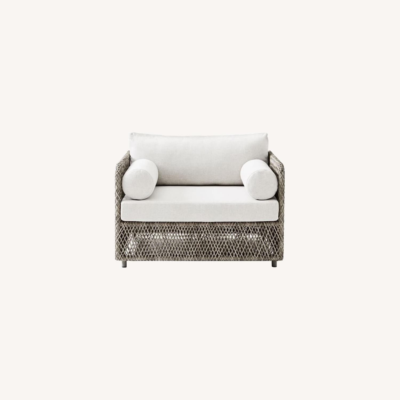 West Elm Coastal Lounge Chair, Individual - image-0