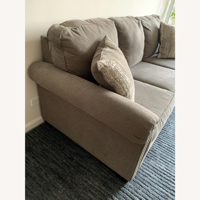 Raymour & Flanigan Grey Chenille Sofa - image-5