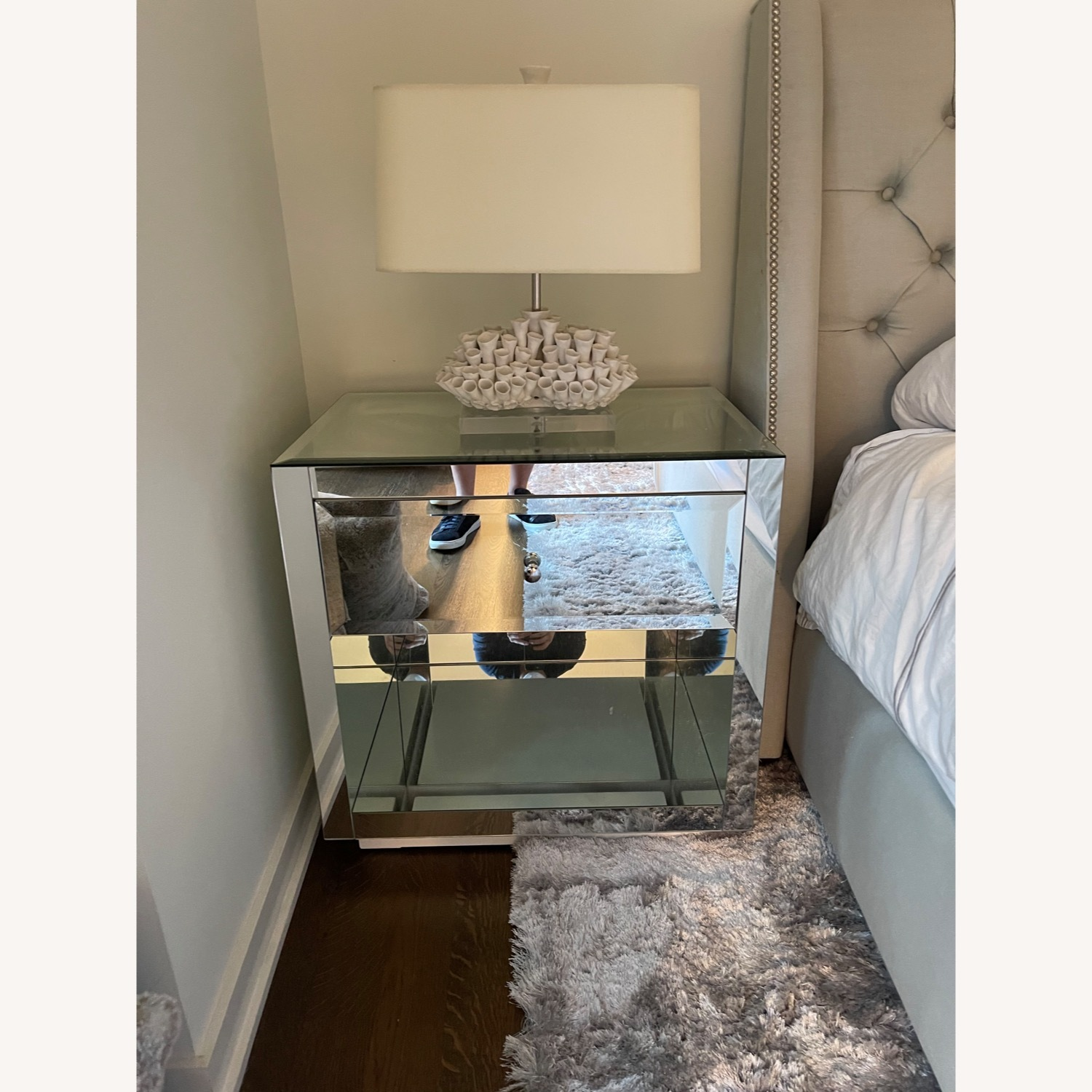 Horchow Hannah Mirrored Chest Set - image-3