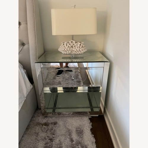 Used Horchow Hannah Mirrored Chest Set for sale on AptDeco