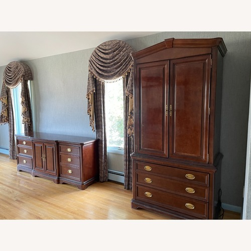 Used Bernhardt Mahogany Wood Armoire for sale on AptDeco
