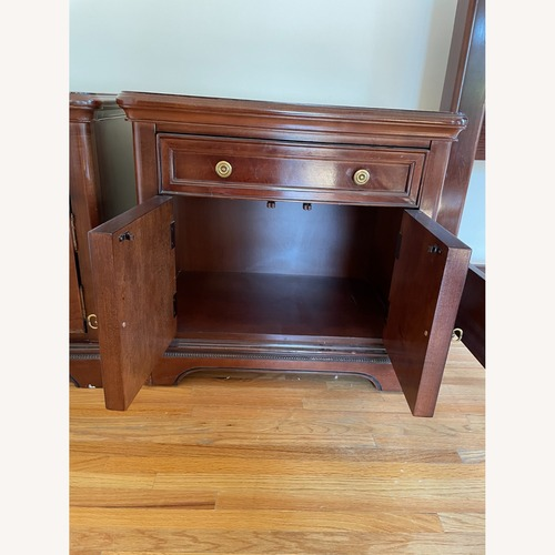 Used Bernhardt Mahogany Wood Nightstands - A Pair for sale on AptDeco