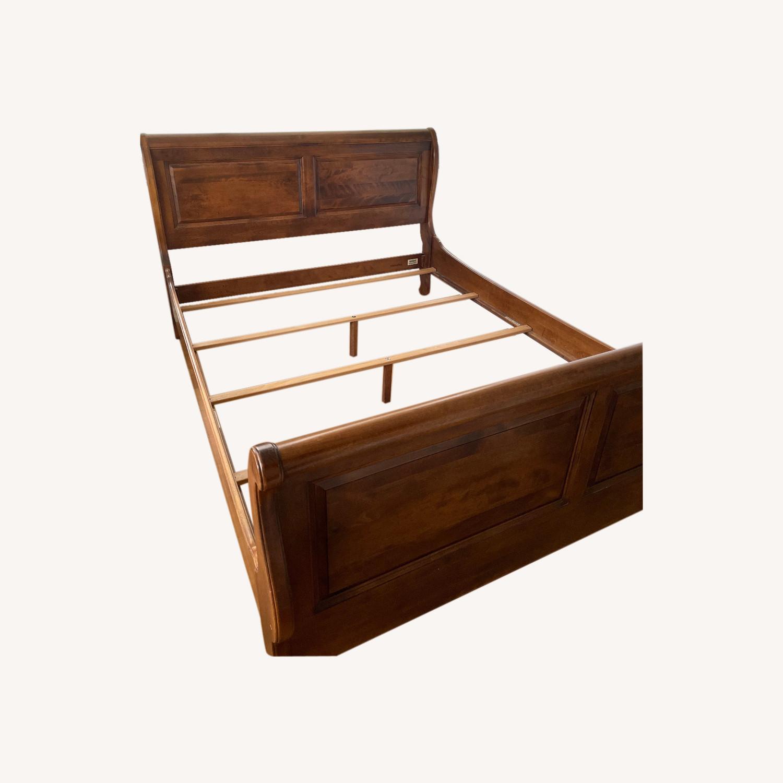 Ethan Allen Queen Bed Frame Sleigh - image-0