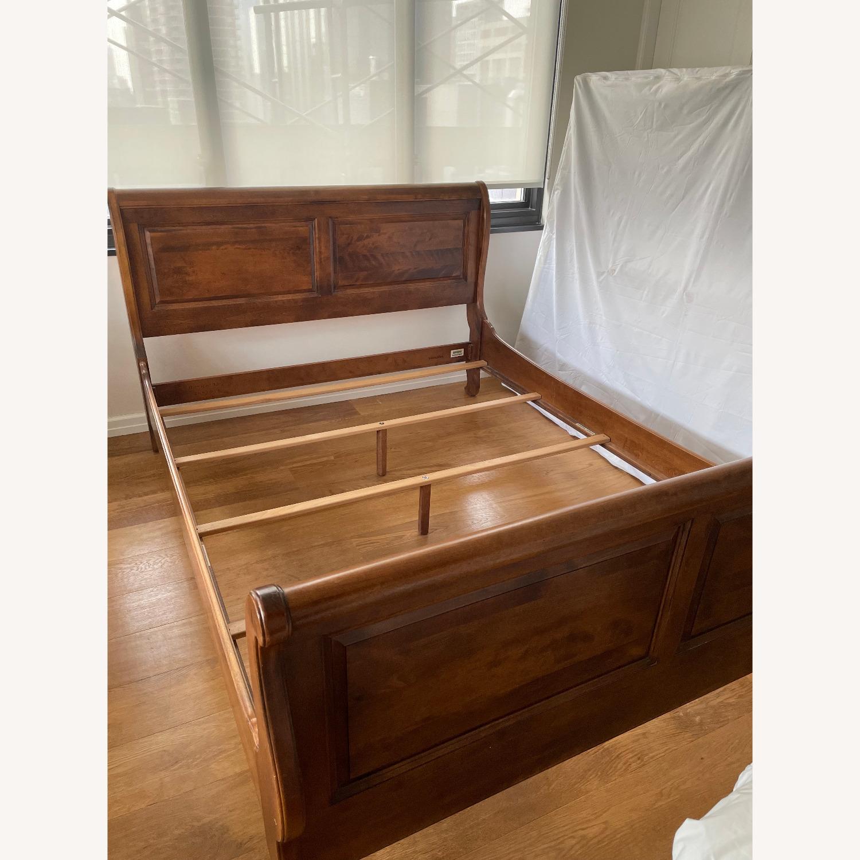 Ethan Allen Queen Bed Frame Sleigh - image-1