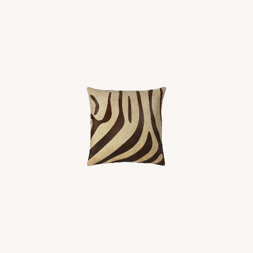 Used Williams Sonoma Zebra Pillow for sale on AptDeco