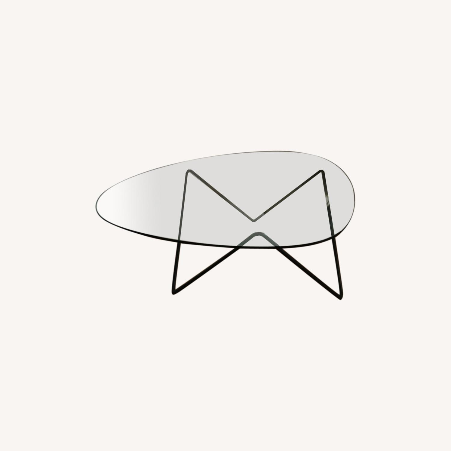 Design within Reach Glass Coffee Table - image-0