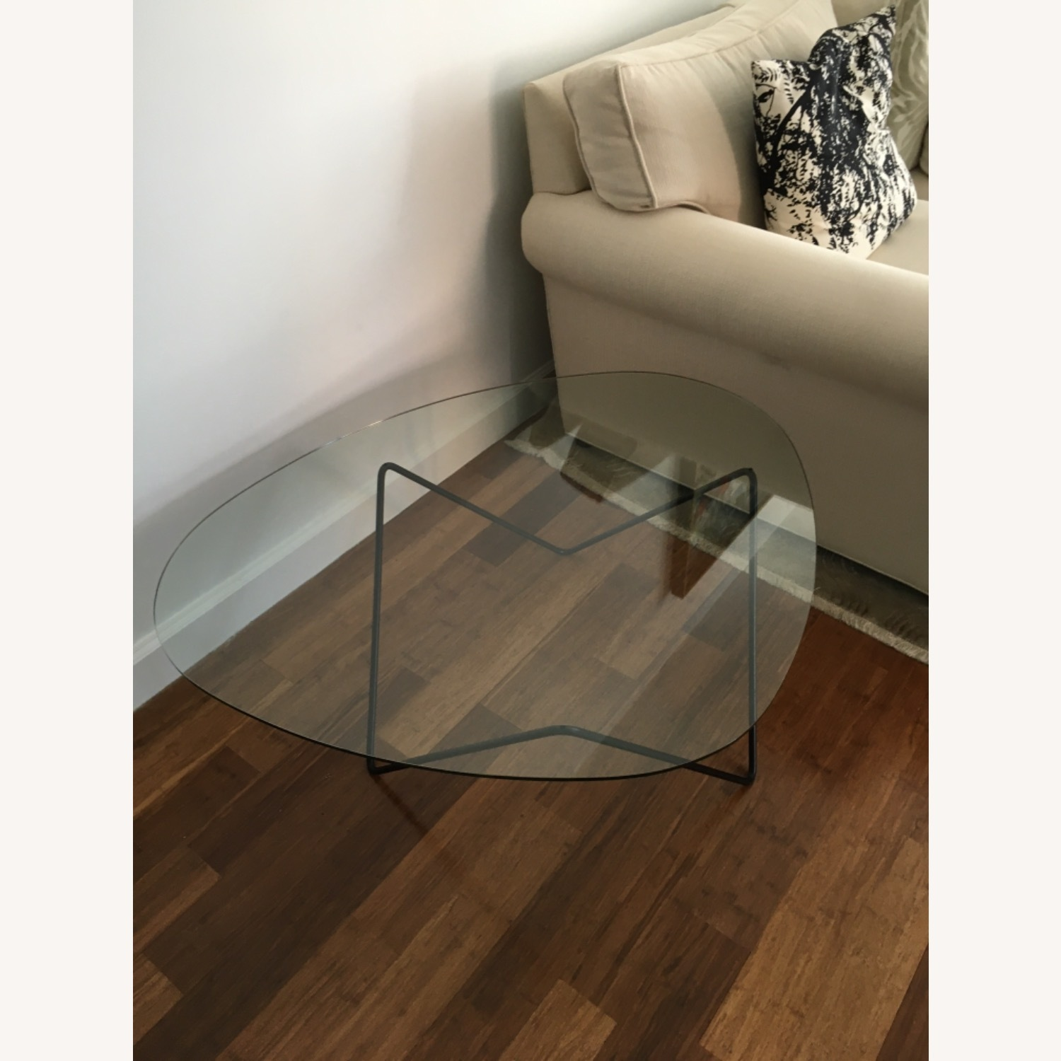 Design within Reach Glass Coffee Table - image-2