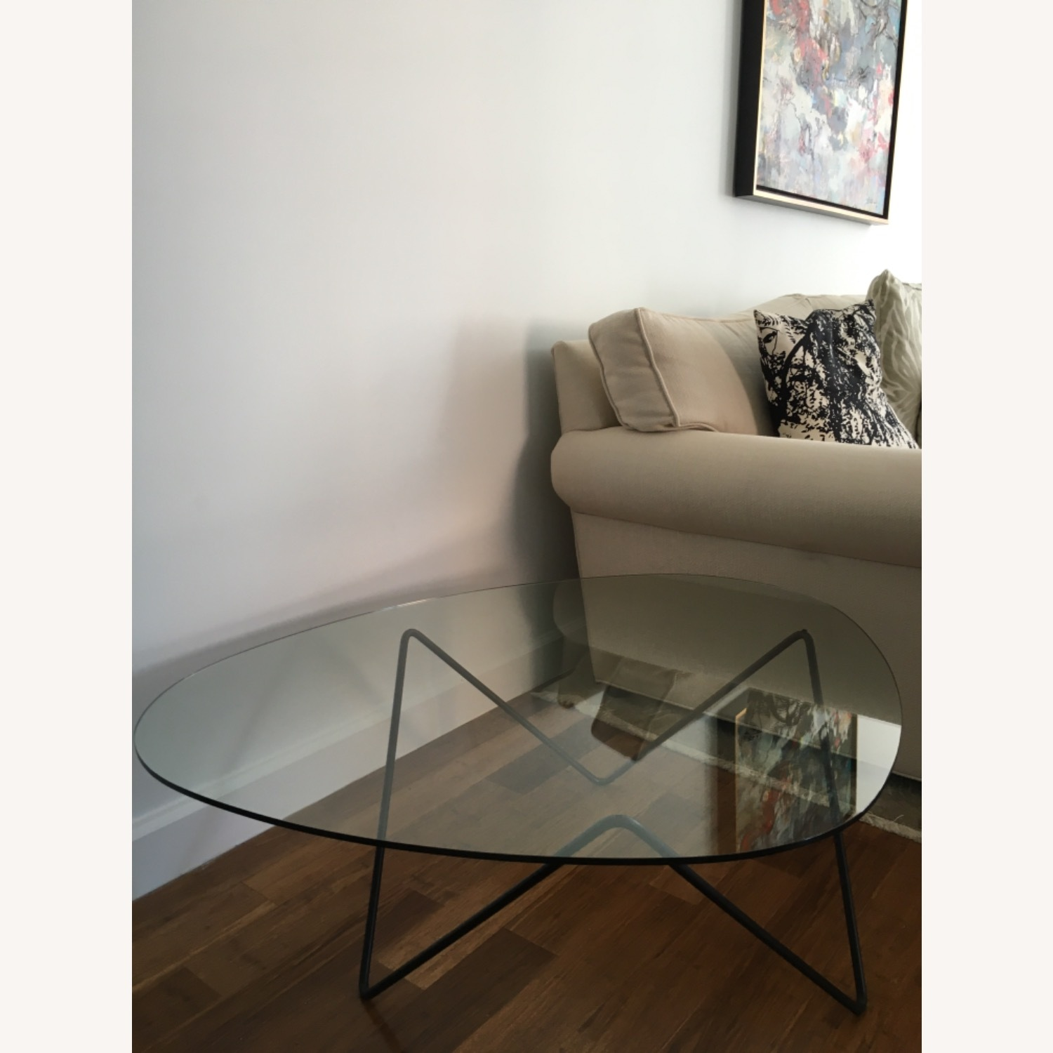 Design within Reach Glass Coffee Table - image-1